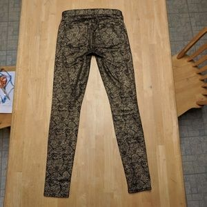7 For All Mankind Gold/Black Jeans 27